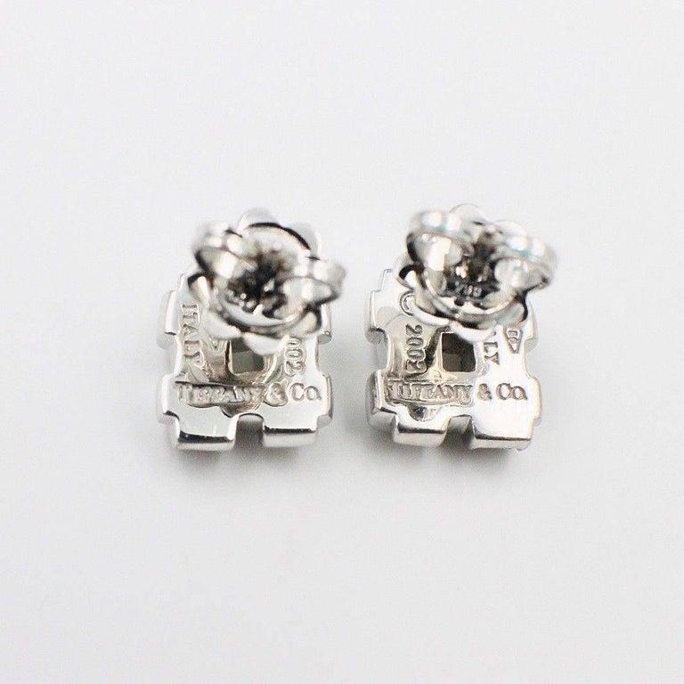 Tiffany & Co. 18 Karat Gold Diamond Vannerie Basket Weave Earrings 0.25 Carat For Sale 1