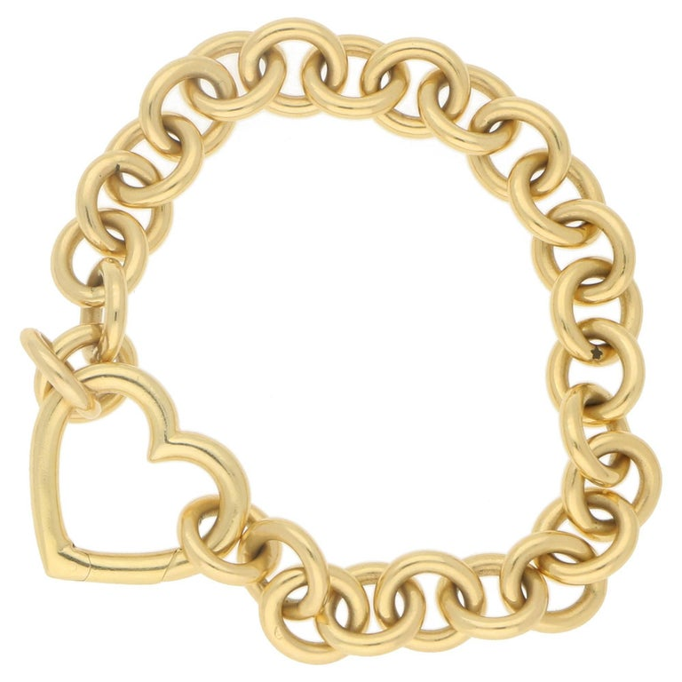 1f67c803a Tiffany and Co. 18 Karat Gold Heart Bracelet at 1stdibs