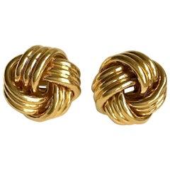 Tiffany & Co. 18 Karat Gold Knot Clip Earrings Earclips