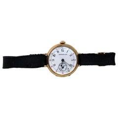 Tiffany & Co. 18 Karat Gold Ladies Wristwatch Hand Winding Pocket Watch Style