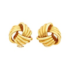 Tiffany & Co. 18 Karat Gold Love Knot Earrings