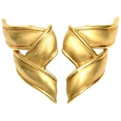 Tiffany & Co. 18 Karat Gold Pierced Lever Back Earrings