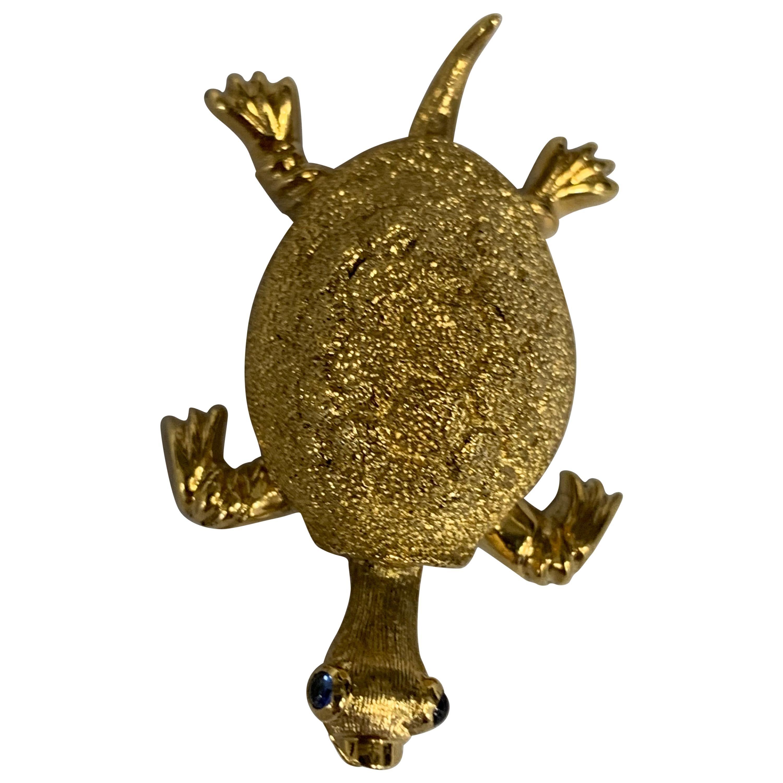 Tiffany & Co. 18 Karat Gold Turtle Brooch