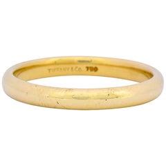 Tiffany & Co. 18 Karat Gold Unisex Band Ring