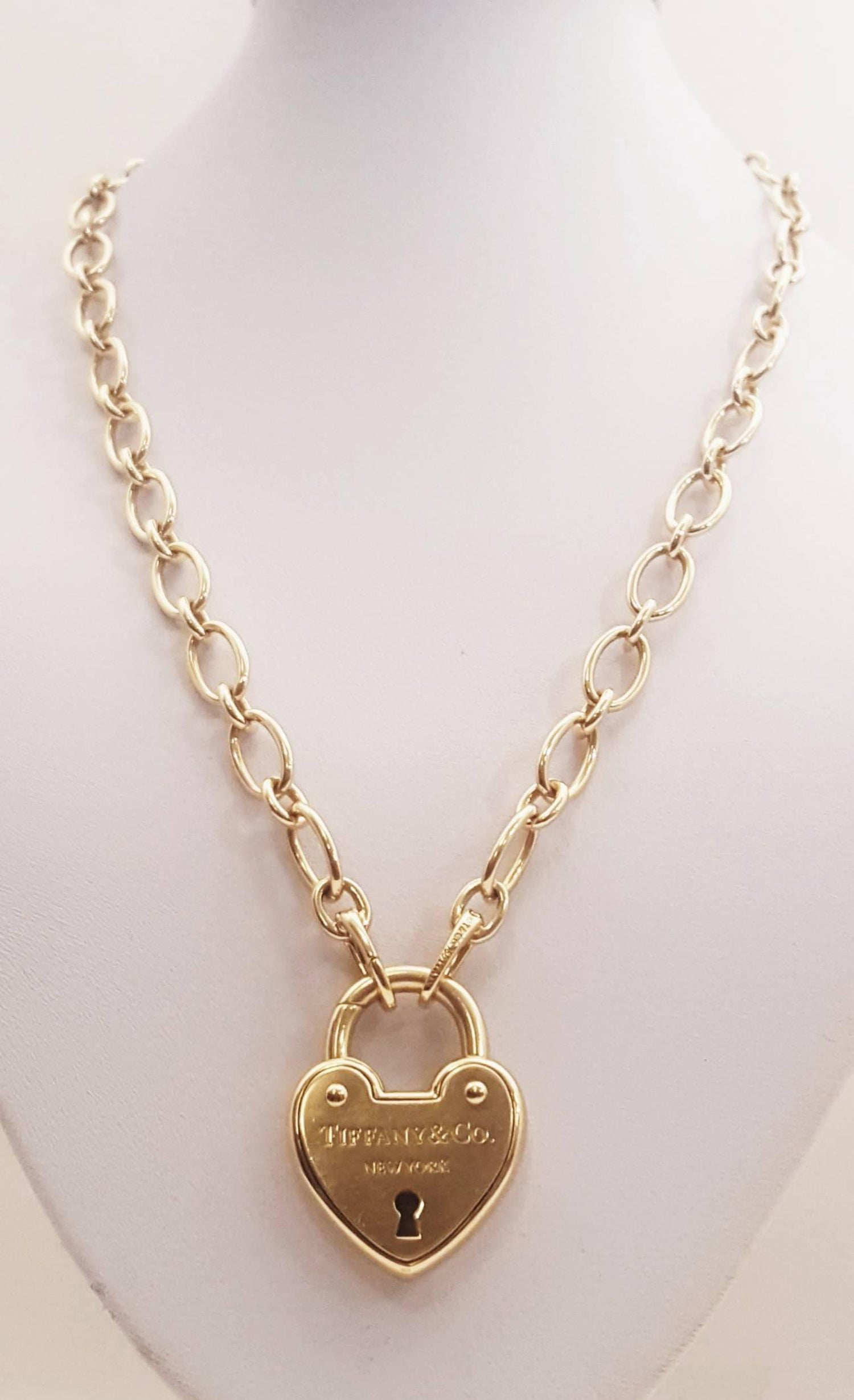 7092ab26a Tiffany and Co. 18 Karat Heart Lock Necklace at 1stdibs