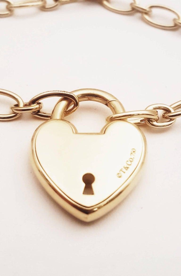 6311aeb13 Tiffany and Co. 18 Karat Heart Lock Necklace at 1stdibs
