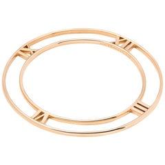 Tiffany & Co. 18 Karat Rose Gold Flat Atlas Bangle