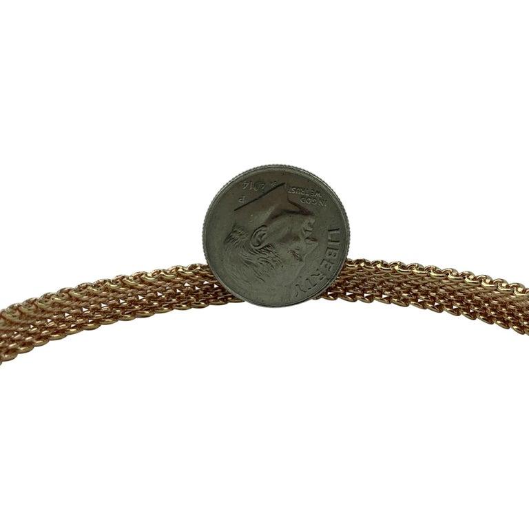 Women's Tiffany & Co. 18 Karat Rose Gold Mesh Bangle Bracelet For Sale