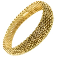 Tiffany & Co. 18 Karat Somerset Gold Mesh Bracelet, circa 1995