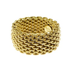 Tiffany & Co. 18 Karat Somerset Gold Mesh Ring