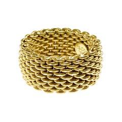 Tiffany & Co. 18 Karat Somerset Gold Mesh Ring
