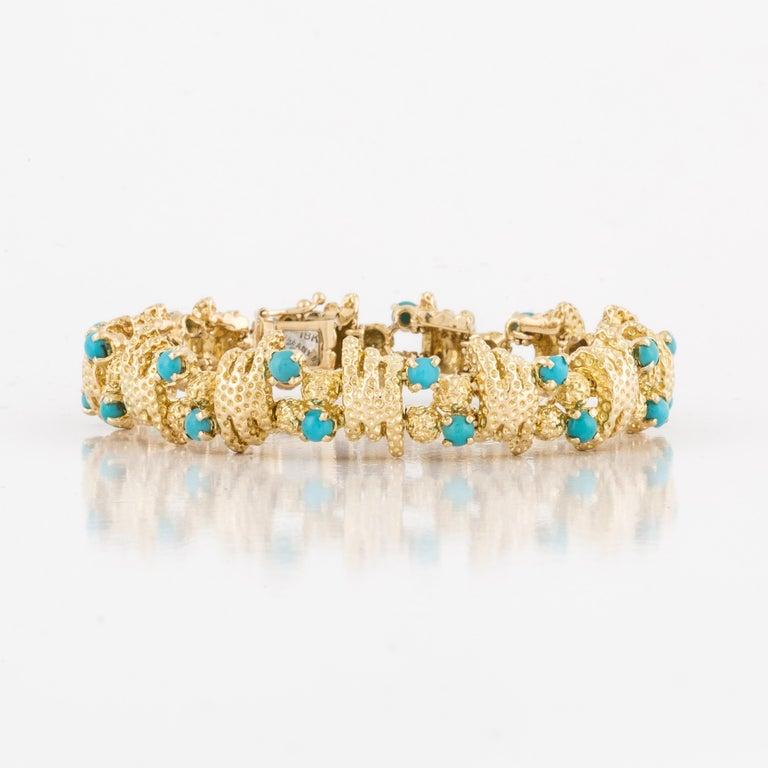 18K yellow gold bracelet marked