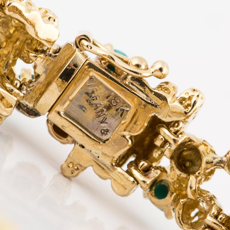 Women's or Men's Tiffany & Co. 18 Karat Turquoise Bracelet For Sale