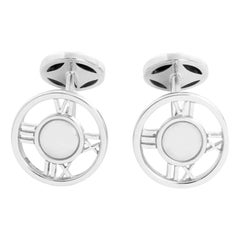 Tiffany & Co. 18 Karat White Gold Atlas Cufflinks