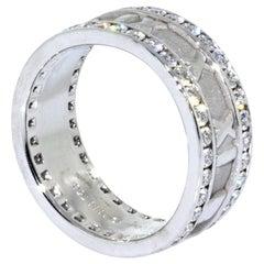 Tiffany & Co. 18 Karat White Gold Atlas Roman Numeral Diamond Ring