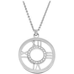 Tiffany & Co. 18 Karat White Gold Diamond Altas 9.4 Grams Necklace