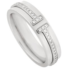 Tiffany & Co. 18 Karat White Gold Diamond Wedding Band