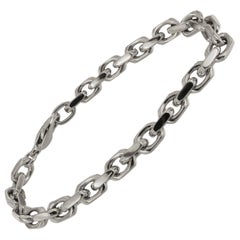 Tiffany & Co. 18 Karat White Gold Spartacus Link Bracelet