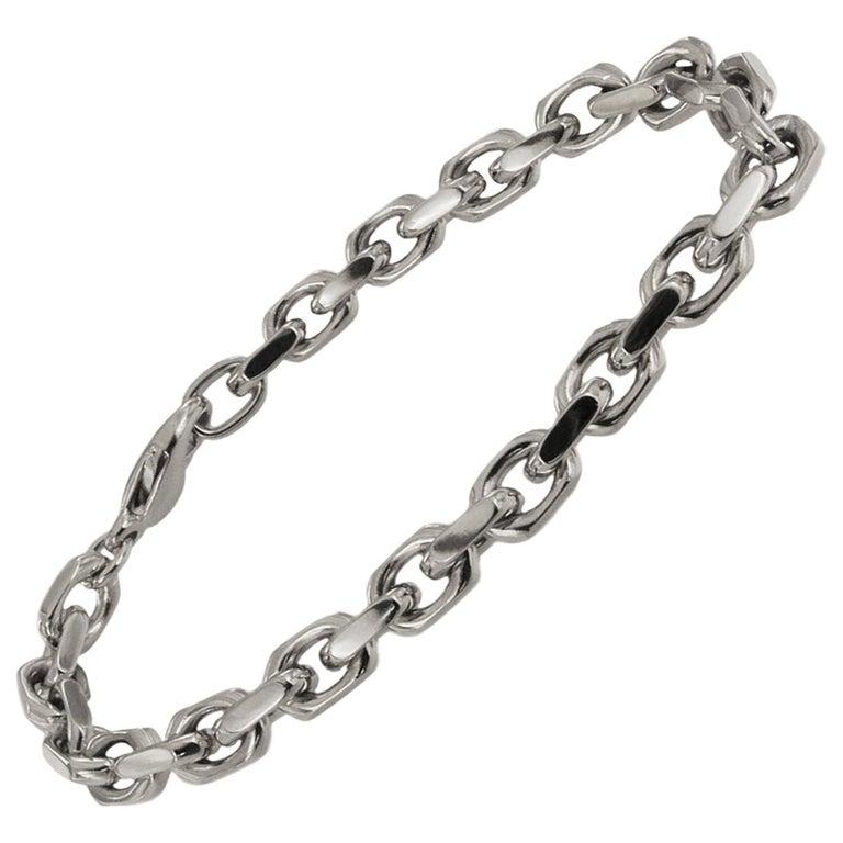 Tiffany & Co. 18 Karat White Gold Spartacus Link Bracelet For Sale