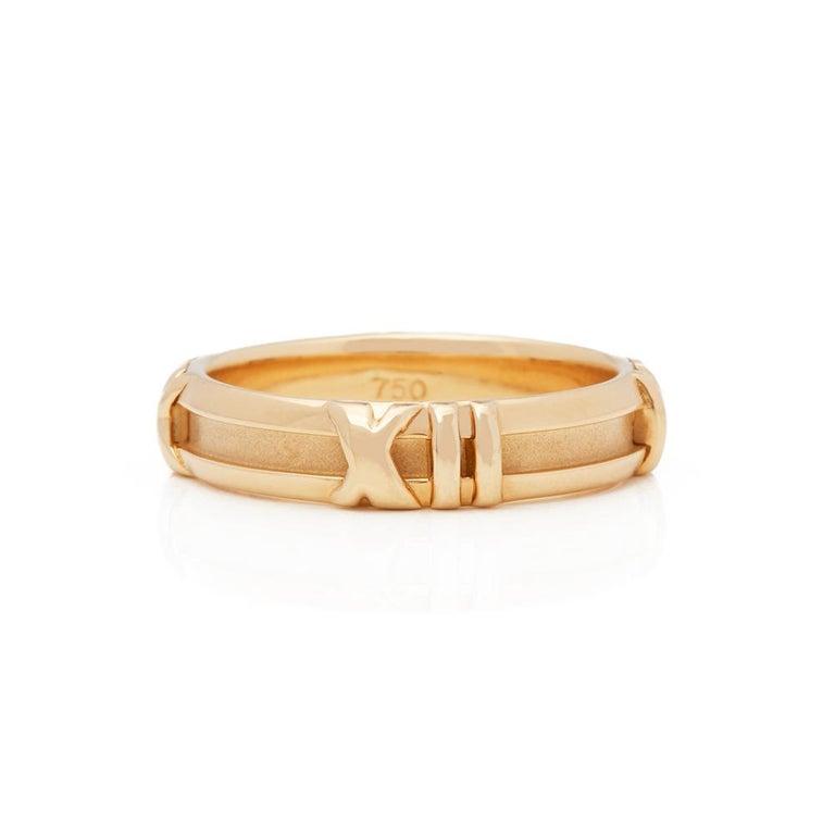 1efa44797 Modern Tiffany & Co. 18 Karat Yellow Gold 1995 Atlas Band Ring For Sale