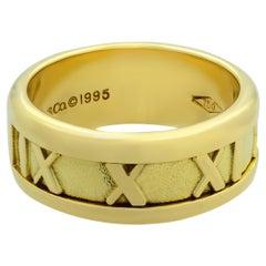 Tiffany & Co. 18 Karat Yellow Gold 1995 Atlas Collection Ring