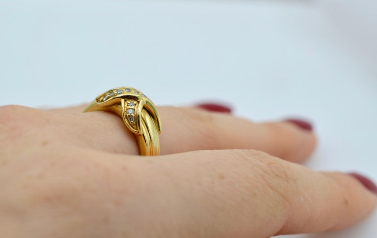 Tiffany & Co Yellow Gold 18 Karat and Diamond Ring 1990 For Sale 5