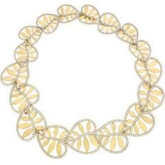 """Tiffany & Co. 18 Karat Yellow Gold and Diamond """"Villa Paloma"""" Necklace"""