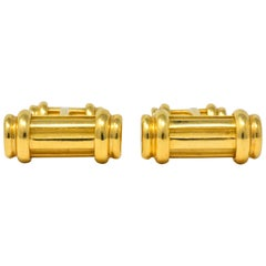 Tiffany & Co. 18 Karat Yellow Gold Atlas Cufflinks, circa 1990s