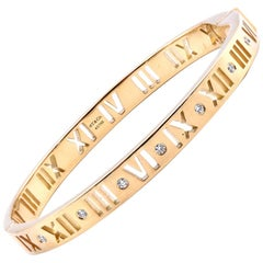 Tiffany & Co. 18 Karat Yellow Gold Atlas Diamond Bracelet