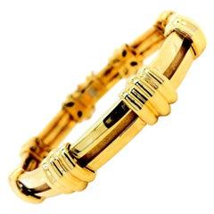 Tiffany & Co. 18 Karat Yellow Gold Atlas Link Bracelet Rare Vintage 1995 42g