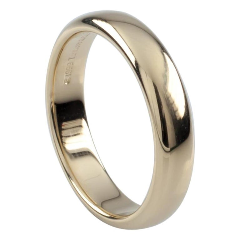 3e340af47 Tiffany and Co. 18 Karat Yellow Gold Band Ring For Sale at 1stdibs
