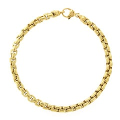 Tiffany & Co. 18 Karat Yellow Gold Box Link Bracelet
