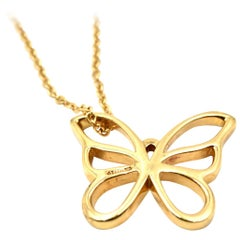 Tiffany & Co. 18 Karat Yellow Gold Butterfly Necklace