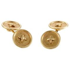 Tiffany & Co. 18 Karat Yellow Gold Button Cufflinks