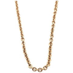 Tiffany & Co. 18 Karat Yellow Gold Cable Chain