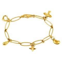 Tiffany & Co. 18 Karat Yellow Gold Charm Bracelet