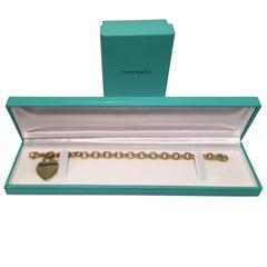 Tiffany & Co. Heart Tag 18 Karat Yellow Gold Charm Bracelet