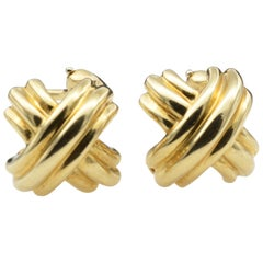 Tiffany & Co. 18 Karat Yellow Gold Clip Earring by Paloma Picasso