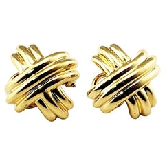 Tiffany & Co. 18 Karat Yellow Gold Clip-On Earrings