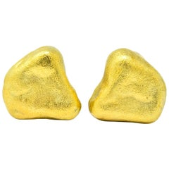 Tiffany & Co. 18 Karat Yellow Gold Contemporary Ear-Clip Earrings
