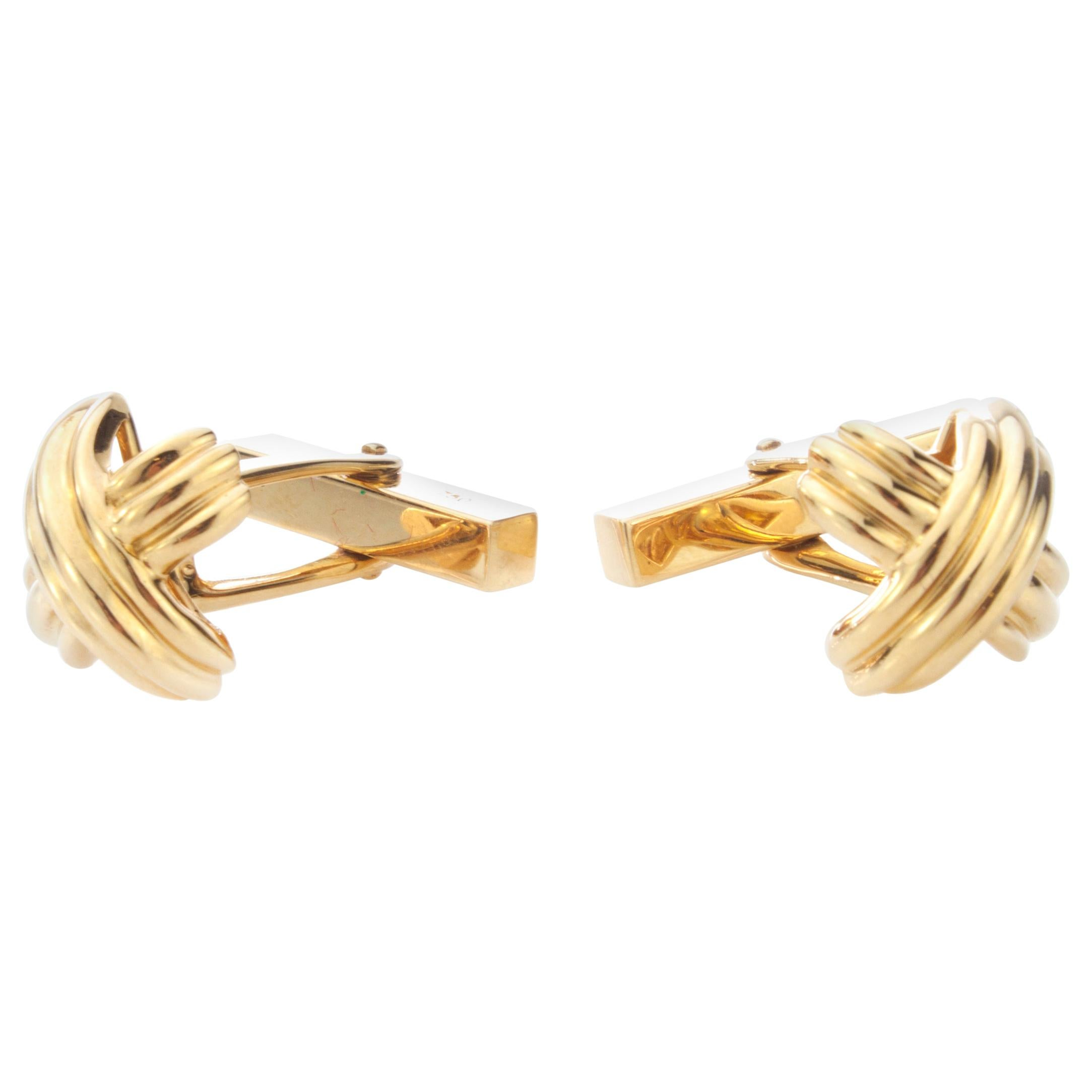 Tiffany & Co. 18 Karat Yellow Gold Cufflinks