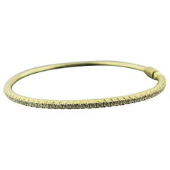 Tiffany & Co. 18 Karat Yellow Gold and Diamond Bangle, 3.05 Carat