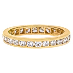 Tiffany & Co. 18 Karat Yellow Gold Diamond Eternity Band