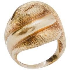 Tiffany & Co. 18 Karat Yellow Gold Dome Ring