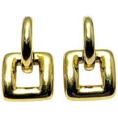 Tiffany & Co. 18 Karat Yellow Gold Door Knocker Earrings
