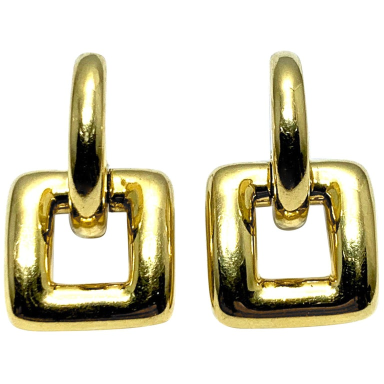 Tiffany & Co. 18 Karat Yellow Gold Door Knocker Earrings For Sale