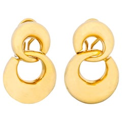 Tiffany & Co. 18 Karat Yellow Gold Drop Earrings