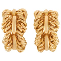 Tiffany & Co. 18 Karat Yellow Gold Earrings
