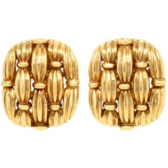 Tiffany & Co 18 Karat Yellow Gold Earrings