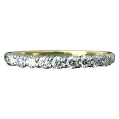 Tiffany & Co. 18 Karat Yellow Gold Embrace Diamond Eternity Ring .23 Carat G VS1